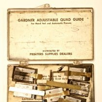 Image of #48  Gardner Adjustable Quad Guide- Register Guides With Original Instructi