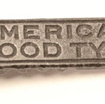 Image of #53a  American Wood Type Quoin, Close-up