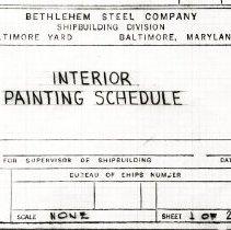 Image of Ship Drawings Title Block