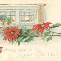 Image of Wishing you a joyous Yule-tide - PastPerfect Museum Postcard Collection