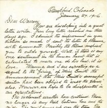 Image of Camp Bird Letter pg 1
