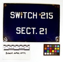 Image of Sign: Switch 215 - Sign