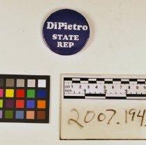 Image of DiPietro button - Button, Political
