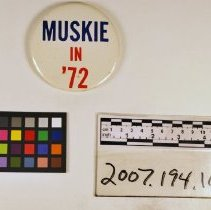 Image of Muskie button - Button, Political
