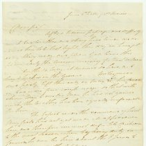 Image of David Thompson letter to Anthony Barclay; Falls of St. Maries - June 2, 1824