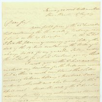 Image of David Thompson letter to Anthony Barclay; Williamstown, River Raisin - Jan. 23, 1826