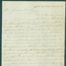 Image of David Thompson letter to Anthony Barclay - Apr. 29, 1820