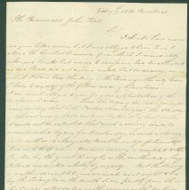 Image of David Thompson letter to John Hale - Feb. 7, 1820