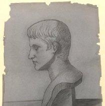 Image of Charcoal drawing of Caesar - Drawing