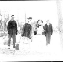 Image of Scarecrows/Snowmen, ca. 1935 - 1935 circa