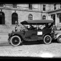 Image of Automobile Parked in Front of Portland City Hall -