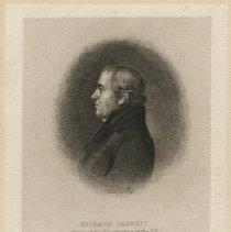 Image of Richard Bassett document set - 1796 May 30 [letter]; ca. 1815 [engraving]