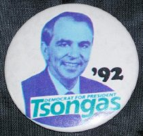 Image of Tsongas Democrat for President