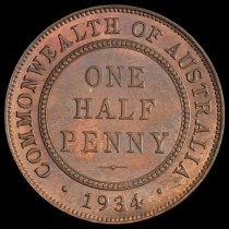 Image of 1/2 penny, Australia, rev