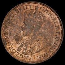Image of 1/2 Penny, Australia obv