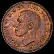 Image of 1938 1/2 penny, Australia obv