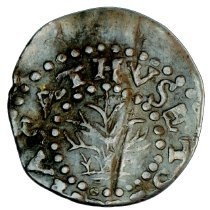Image of US Colonial Mass Oak Tree two pence