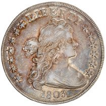 Image of 1803 Draped Bust Dollar, Breen 5401, US. - 1989.0084.0004