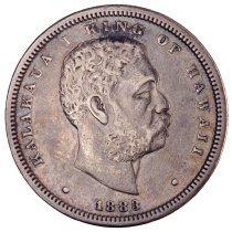 Image of US Hawaiian 1883 Half Dollar O.