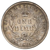Image of US Hawaiian 1883 Ten Cent One Dime R.
