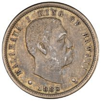 Image of US Hawaiian 1883 Ten Cent One Dime O.