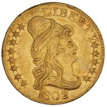 Image of US Half Eagle Capped Bust to Right 1803 O.