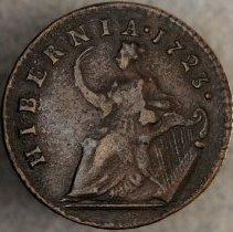 Image of Wood's Hibernia Half Penny 1723 R.