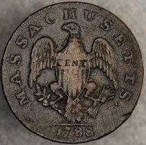 Image of Massachusetts Cent Period After Massachusetts 1788 R.