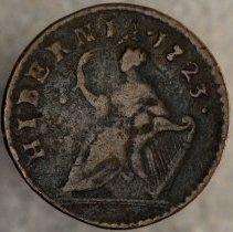 Image of Word's Hibernia Farthing 1723 R.