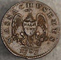 Image of Massachusetts Half Cent 1787 R.