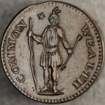 Image of Massachusetts Half Cent 1787 O.