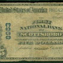 Image of First National Bank of Scottsboro Five Dollar o