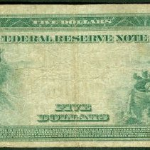 Image of Federal Reserve Note: Five Dollar r