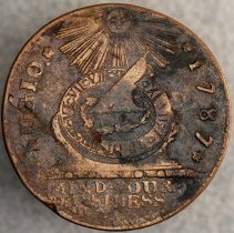 Image of Fugio Cent Pointed Rays STATES UNITED 1787 O.