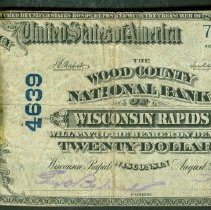 Image of The Wood County National Bank of Wisconsin Rapids: Twenty Dollar o