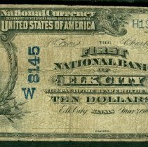 Image of First National Bank of Elk City: Ten Dollar o