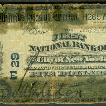 Image of First National Bank of the City of New York: Five Dollar o