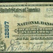 Image of National Bank, Ridgewood: Five Dollar o