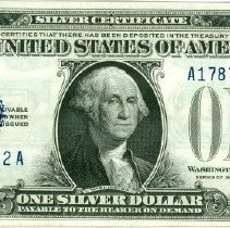 Image of Silver Certificate One Dollar o