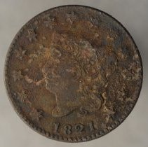 Image of 1821 Matron Head Liberty Large Cent, Newcomb 2, US.  - 1977.0003.0253