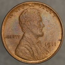 Image of 1911 Lincoln Wheat Small Cent, Breen 2062, US - 1981.0089.0007