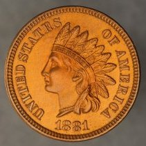 Image of 1881 Indian Head Small Cent, Breen 1999, US  - 1983.0140.0061
