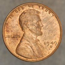 Image of 1949 Lincoln, Wheat Back Cent