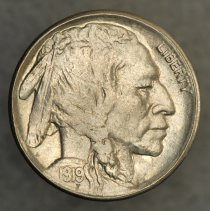 Image of 1919 S 5 cents, Breen 2610, US. - 1978.0004.0093
