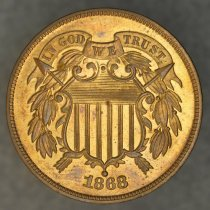 Image of 1868 two cent, Breen 2393, US. - 1979.0017.0006
