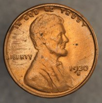 Image of 1930 S Lincoln Wheat Small Cent, Breen 2119, US  - 1981.0195.5656