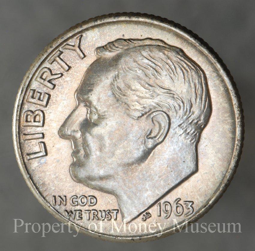 1963 D Roosevelt Dime, Breen 3756, US - 1972 0027 0008