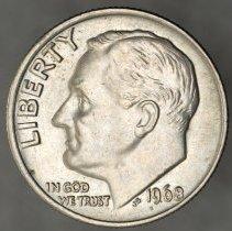 Image of 1968 Roosevelt Dime, Breen 3766, US - 1984.0072.0741