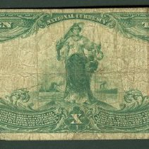 Image of US 10 Dollar NBN, National Exchange Bank of Baltimore B.