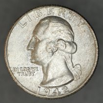 Image of 1942 Washington quarter dollar, Breen 4310, US. - 1989.0151.0502